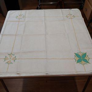 Vintage Tablecloth, Nouveau, Deco, Square
